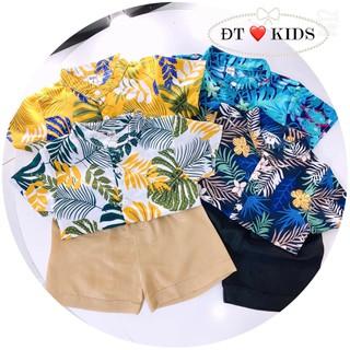 bộ quần áo ren hoa cho bé, mùa hè mặc mát đi biển cũng oki luôn - bộ đồ ren hoa nam thumbnail
