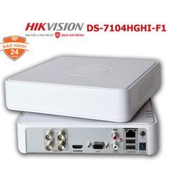 Đầu ghi hình DVR 4 kênh TVI TURBO HD 1080P Hikvision DS-7104HGHI-F1 chính hãng Nhà An Toàn