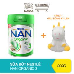 [Tặng 1 gấu bông kỳ lân] Sữa bột Nestle Nan Organic 3 – Hộp 900gram