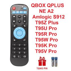 Remote điều khiển ANDROID TV BOX QBOX QPLUS T95Z Plus T95U Pro T95R Pro T95W Pro T95K ProT95V Pro amlogic S912 (HÀNG XỊN – Tặng pin)