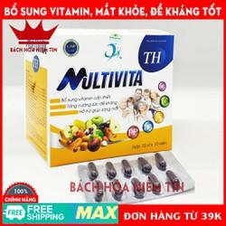 Viên uống Multivita - Bổ sung Vitamin A,D3,C, B, và khoáng chất giúp ăn ngon miệng, tăng cường thị lực tăng sức đề kháng