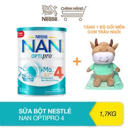 [Tặng bộ gối mền con trâu ngồi] Sữa bột bổ sung HMO Nestlé Nan Optipro 4 cho trẻ trên 2 tuổi (1.7kg)