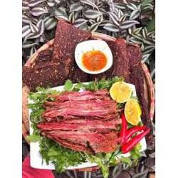 Thịt trâu gác bếp Tây Bắc giá gốc  TẶNG CHẨM CHÉO  Thịt trâu sấy khô chuẩn vị ngon sạch Loại 1 Chuẩn Sapa Cực Ngon