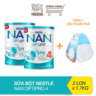 [Tặng lều khám phá] Combo 2 lon sữa bột bổ sung HMO Nestlé Nan Optipro 4 cho trẻ trên 2 tuổi (1.7kg) - TUNAN00010CB thumbnail