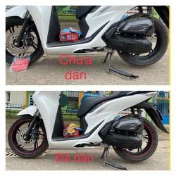 Miếng dán bảo vệ bánh xe máy trang trí đẹp mắt