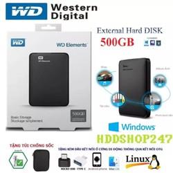 Ổ Cứng Di Động W D Elements 500GB