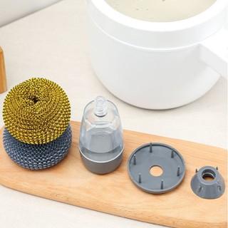 Dụng cụ cọ rửa đa năng, cọ xoong nồi, cọ bếp, cọ rửa bát đĩa có bình chứa tiện lợi - CCNCNDXP thumbnail
