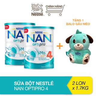 [Tặng balo gấu mèo] Combo 2 lon sữa bột bổ sung HMO Nestlé Nan Optipro 4 cho trẻ trên 2 tuổi (1.7kg) - TUNAN0009CB thumbnail