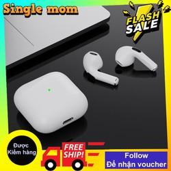 Tai nghe Bluetooth Không Dây Pro 4 Nâng Cấp Chip 5.0 BLUETOOTH,Âm thanh siêu hay, Mic Đàm Thoại 2 Bên , Tai Nghe Không Dây Tai Nghe Bluetooth Nhét Tai