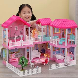 Nhà búp bê cỡ lớn cho bé - Đồ Chơi Lắp Ghép Ngôi Nhà Biệt Thự Búp Bê Xinh Xắn Cho Bé Gái - mnnbbcl thumbnail