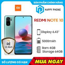Điện thoại Xiaomi Redmi Note 10 (4GB/64GB) - Hàng Chính Hãng, Nguyên Seal, Bảo hành 12 tháng - Redmi Note 10-64GB