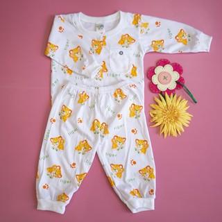 Đồ bộ trẻ sơ sinh Titi con hổ tay dài (trắng) - DOBO005 thumbnail