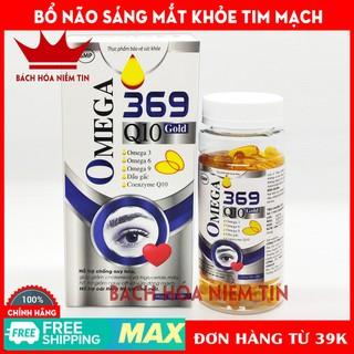 Viên dầu cá O-mega 369 Q10 Gold Bổ não, sáng mắt, khỏe mạnh tim mạch, tăng cường trí nhớ - Hộp 100v - omega100v thumbnail
