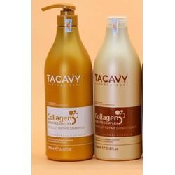 [ Tacavy Chính Hãng ] Tặng Tinh Dầu - Gội Xả Chăm Sóc Tóc Chuyên Nghiệp Tacavy Collagen 1000ML*2