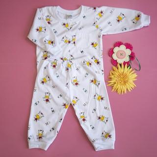 Đồ bộ trẻ sơ sinh Titi bò sữa tay dài (trắng) - DOBO003 thumbnail