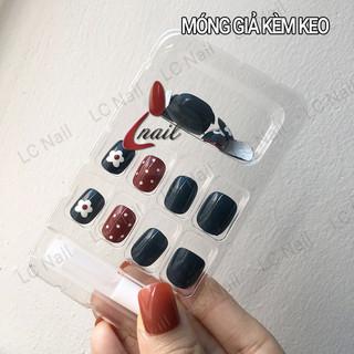 [Hà Nội] Móng Tay Giả Hoa Nhí Chấm Bi LCR023 - Nails 24 móng kèm keo, tự dán móng tại nhà - MG040834 thumbnail