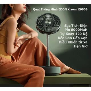 Quạt Thông Minh EDON E980 Sạc Tích Điện Pin 8000MaH Tự Xoay 120 Độ Kéo Cao Gấp Gọn - EDON908 thumbnail