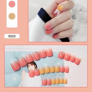 [Hà Nội] Móng Giả Kèm Keo LCR059 Hồng Vàng - Nails 24 móng tay giả giá rẻ, tự dán móng tại nhà - MG040835 thumbnail