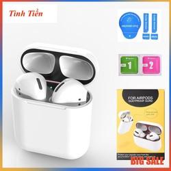 Miếng dán kim loại bảo vệ airpods 1-2- Skin Miếng Dán Kim Loại Bảo Vệ Hộp sạc Tai Nghe Bluetooth Airpods 1/2/3 PRO Tính Năng Chống Bụi Bẩn