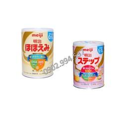 Sữa meiji nội địa Nhật dạng lon số 0 và 9 hộp 800gr