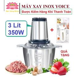 Máy Xay Thịt Đa Năng 3 Lít - Máy xay thịt cao cấp, xay giò chả 3L/ 350W - TẶNG BỘ NẠO RAU CỦ