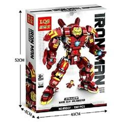 (HÀNG CHÍNH HÃNG)Lego - Lắp Ráp Xếp Hình Mô Hình  IRON  MAN (Người sắt) 1387 Khối LQS 85007