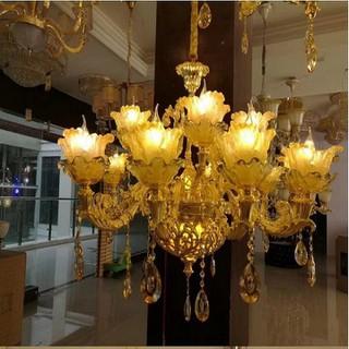 đèn chùm trang trí phòng khách , hội trường - đèn chùm phong cách tân cổ điển - đèn chùm trang trí J9 thumbnail