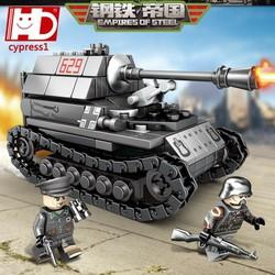 Lắp ráp xếp hình Lego city sembo block 101213 : Siêu xe tank phao chông tank của đế quốc đưc