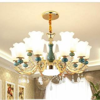 đèn chùm , đèn thả trang trí phòng khách , hội trường phong cách châu âu cổ điển - đèn chùm trang trí J7 thumbnail