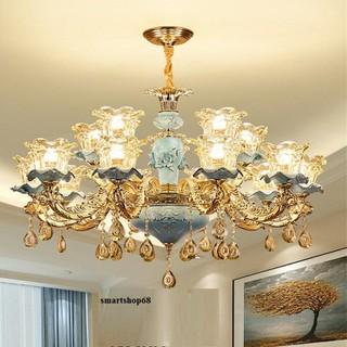 đèn chùm , đèn gắn trần trang trí phòng khách - phong cách tân cổ điển - đèn chùm , đèn gắn trần trang trí J12 thumbnail