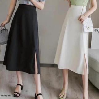 Chân váy a xẻ cạnh, chân váy dài ulzzang - dài xẻ bên thumbnail