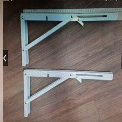 Bản lề gấp gọn thông minh, bộ giá đỡ ke bàn gấp thông mihh treo tường Sunha Size 25cm CHOTO2039
