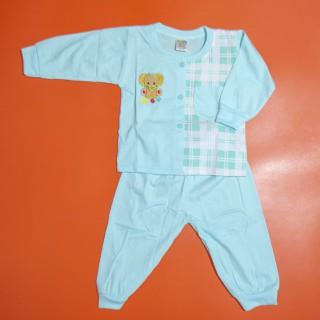 Đồ bộ trẻ sơ sinh TiTi voi con caro tay dài (4 màu) - DOBO011 thumbnail
