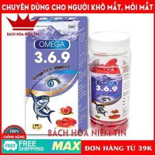 Viên dầu cá O-MEGA 3,6,9 đỏ - hộp 80 viên - dầu cá tự nhiên giúp bổ não, giảm khô mắt, mỏi mắt, tăng cường thị lực - 006 thumbnail