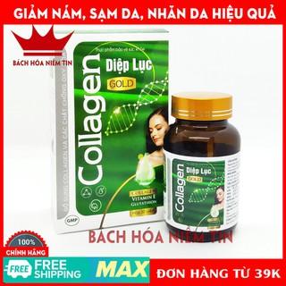 Viên uống làm đẹp da Collagen Diệp Lục Gold (Green) - Bổ sung collagen, vitamin E, diệp lục giúp giảm nám da, sạm da - 0103 thumbnail
