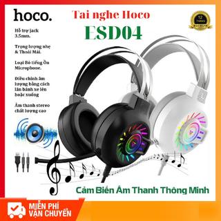 Tai Nghe Chụp Tai Cao Cấp Dành Cho Game Thủ Hoco ESD04 Có Hỗ Trợ Mic- LED đổi màu theo nhạctainghe - Tainghe chụp tai Hoco ESD04 thumbnail