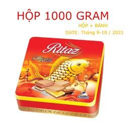 Hộp Bánh Quy Ritaz Deemah Assorted Bitcuits Thiếc - 1000 Gram ( Bánh +  Hộp)   - DATE: Tháng 9 - 10 / 2021