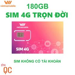 Sim 4G vietnamobile trọn đời 180GB hạn sử dụng 12 tháng không có tài khoản