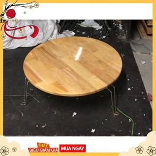 Bàn tròn gỗ cao su phi 60 bàn tròn gấp gọn - t0ddRmo7oB thumbnail
