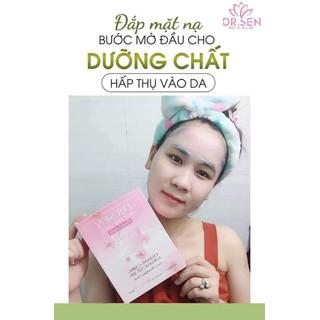 [ Đắp Là Mê ] Mặt Nạ Thạch Fruit Pink - Mặt Nạ Dừa 3 lớp Dr.sen Của Sen Spa [ Hộp 5 miếng ] - mặt nạ dừa 3 lớp Dr.sen thumbnail