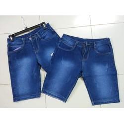 Quần shorts jeans thời trang cào xước vãi dầy đẹp size 28 đến 34