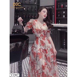váy voan hoa cổ V - V1907 thumbnail