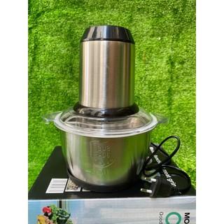 Máy xay thịt đa năng Inox Công suất 250W - Kích thước 25,5cm x 16cm - Tần số điện áp 220V - Dung tích 2L - Trọng lượng 2,5Kg - Chất liệu Inox - Với mức công suất tối đa đạt 250W, máy xay thực p - NG3315 thumbnail