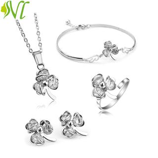 Bộ trang sức nữ 4 món dễ thương trắng nhẹ nhàng ( xem hàng trước khi nhận) - botrafg thumbnail
