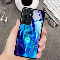 Ốp Lưng Cho Điện Thoại Samsung S21 Ultra Mặt Kính Cường Lực siêu đẹp  - 03119 8224 RK01