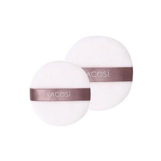 Bông phấn cotton Vacosi khô tròn trung quai tím - Vacosi medium white round puff BP20 - BP20 thumbnail