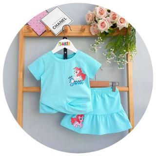 Sét Váy đầm thun Bé Gái Đầm Pony cho bé gái bộ áo thun chân váy Pony kèm chip đùi đầm bé gái pony [ĐƯỢC KIỂM HÀNG] 23373432 - 23373432 thumbnail