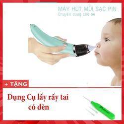 Dụng cụ hút mũi cho trẻ em Dụng cụ hút mũi thông minh tại nhà Tặng dụng cụ lấy rấy tai có đèn