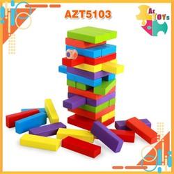 Bộ Đồ Chơi Rút Gỗ Màu 48 PCS - AZT5103