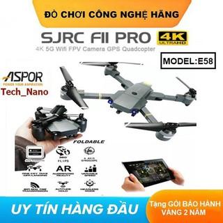 Flycam Mini, máy bay camera flycam, Flycam 4K E58 kết nối WIFI, 2.4GHZ, ĐỘ PHÂN GIẢI 4K CHỤP ẢNH TRÊN KHÔNG truyền hình ảnh trực tiếp về điện thoại - Flycam E58 - XT01 thumbnail